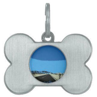 id rather be cycling pet ID tag