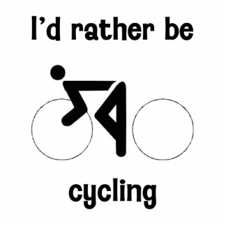 I'd rather be cycling statuette