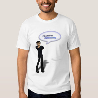 I'd rather be developing (Male TShirt) T-shirt