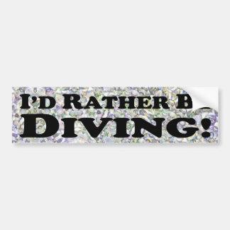 I'd Rather Be Diving - Bumper Sticker