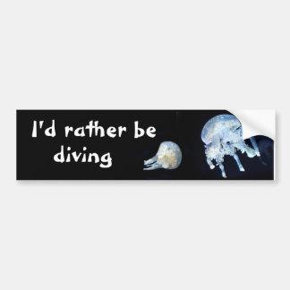 I'd rather be diving bumper sticker