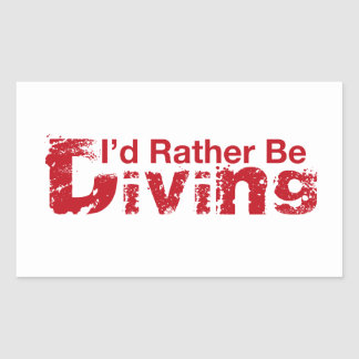 I'd Rather Be Diving Stickers