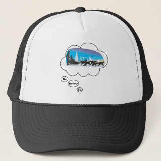 I'd rather be Dog Sled Racing 2 Trucker Hat