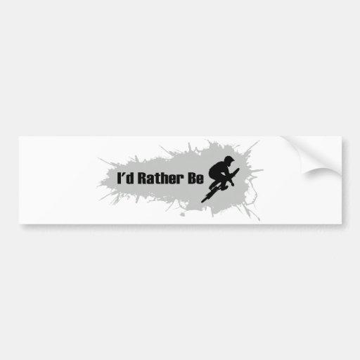 I'd Rather Be Doing BMX Bumper Stickers