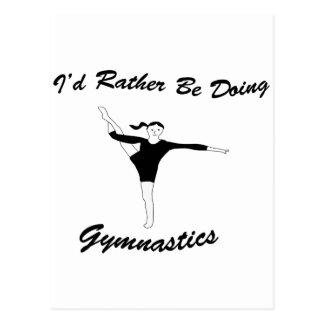 I'd Rather Be Doing Gymnastics Postcard