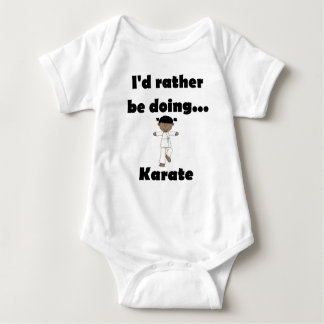I'd rather be doing Karate Baby Bodysuit