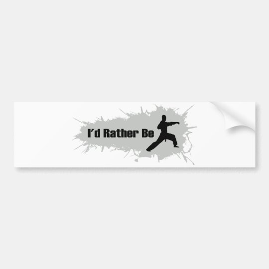 I'd Rather Be Doing Karate Bumper Sticker