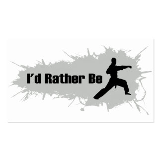 I'd Rather Be Doing Karate Business Card