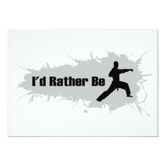 I'd Rather Be Doing Karate Card