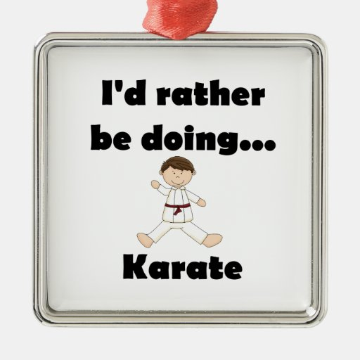 I'd rather be doing Karate Christmas Ornaments