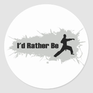 I'd Rather Be Doing Karate Classic Round Sticker