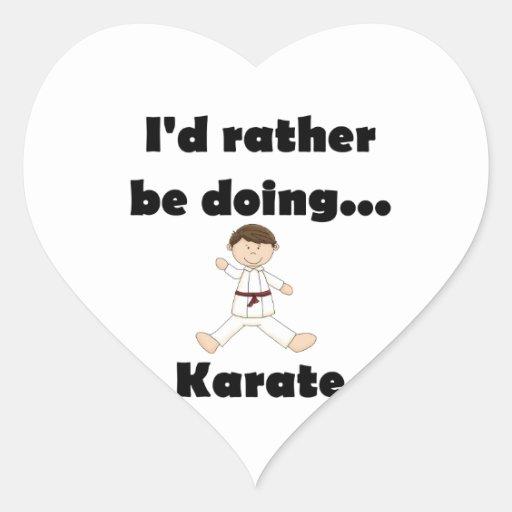 I'd rather be doing Karate Heart Sticker