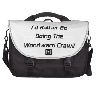 Id Rather Be Doing The Woodward Crawl Laptop Commuter Bag