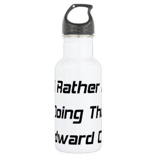 I'd Rather Be Doing The Woodward Crawl  Woodward 18oz Water Bottle