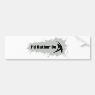 I'd Rather Be Doing Yoga Bumper Sticker