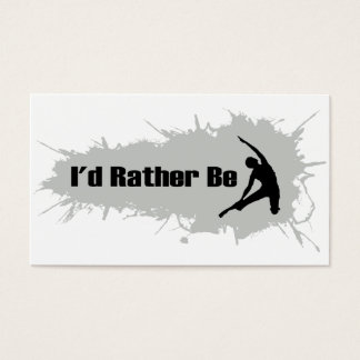 I'd Rather Be Doing Yoga Business Card