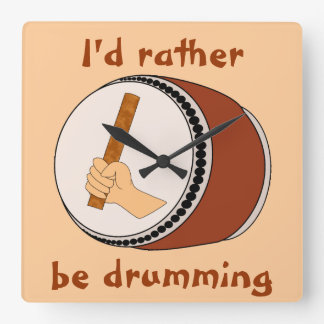 Id Rather Be Drumming Japanese Taiko Drum Clock