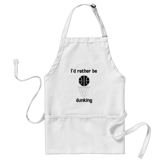 I'd rather be dunking adult apron