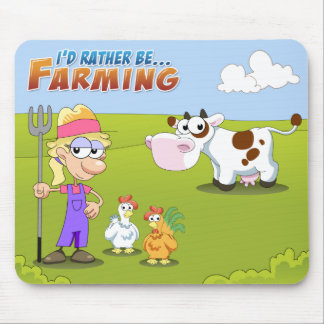 I'd Rather Be...Farming Mouse Pad
