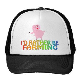 I'D RATHER BE FARMING TRUCKER HAT