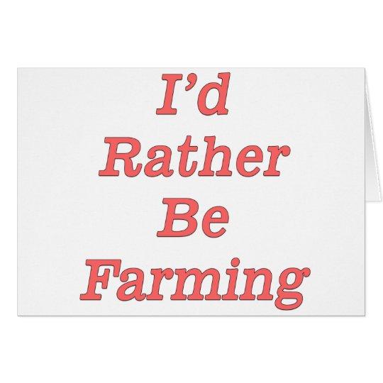 I'd rather be farming V5 Card