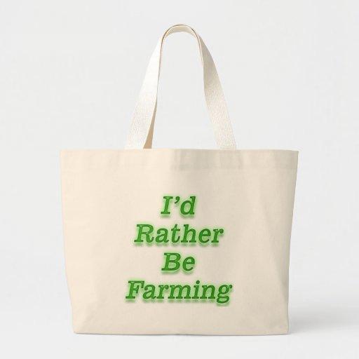 I'd rather be farming V9 Jumbo Tote Bag