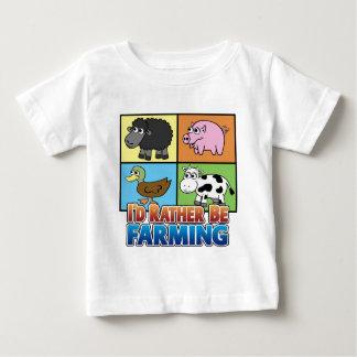 I'd rather be farming! (virtual farmer) baby T-Shirt