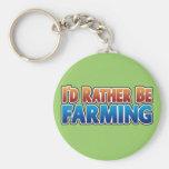 I'd Rather be Farming! (virtual farming) Key Chain