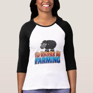 I'd Rather be Farming! (Virtual Farming) T Shirt