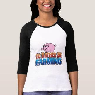 I'd Rather be Farming! (virtual farming) T-shirts