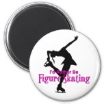 """I'd Rather Be Figure Skating"" 2 Inch Round Magnet"