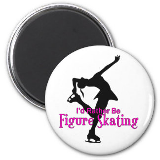 """""""I'd Rather Be Figure Skating"""" 2 Inch Round Magnet"""