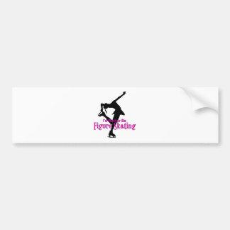 """""""I'd Rather Be Figure Skating"""" Bumper Sticker"""