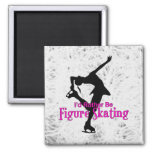 """I'd Rather Be Figure Skating"" Icy 2 Inch Square Magnet"