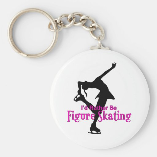 """I'd Rather Be Figure Skating"" Keychain"