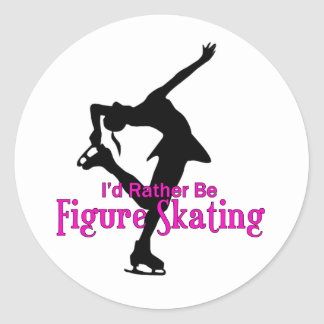 """I'd Rather Be Figure Skating"" Sticker"