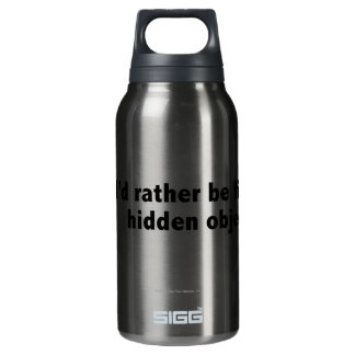 I'd rather be finding hidden objects. Black Insulated Water Bottle