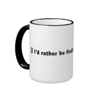 I'd rather be finding hidden objects. Black Ringer Mug