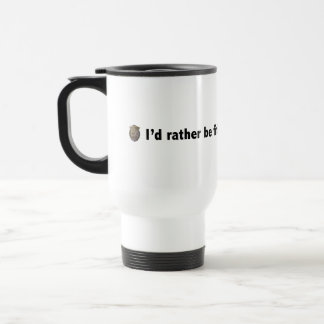 I'd rather be finding hidden objects. Black Travel Mug