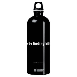 I'd rather be finding hidden objects. White Aluminum Water Bottle