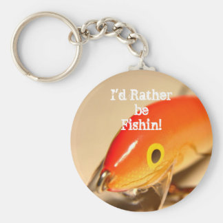 I'd Rather be Fishin! Basic Round Button Keychain