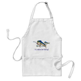 I'd rather be fishing! adult apron