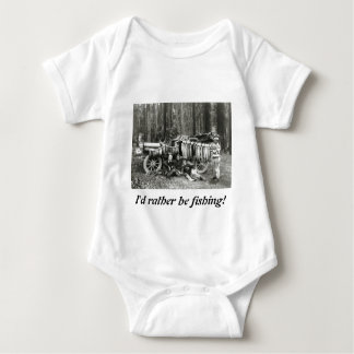 I'd Rather Be Fishing! Baby Bodysuit
