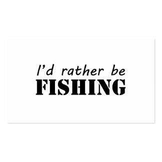 I'd rather be fishing Double-Sided standard business cards (Pack of 100)