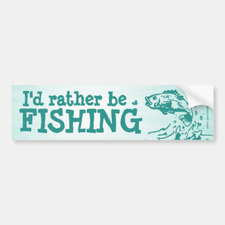 Fishing for men bumper stickers car stickers zazzle for Rather be fishing
