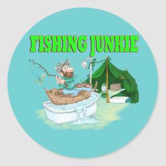 I'd rather be Fishing! Classic Round Sticker