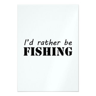 I'd rather be fishing custom invitation
