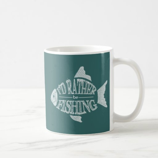 I'd Rather Be Fishing - cute fish design Mugs