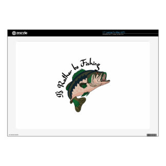 Id Rather be Fishing Decals For Laptops