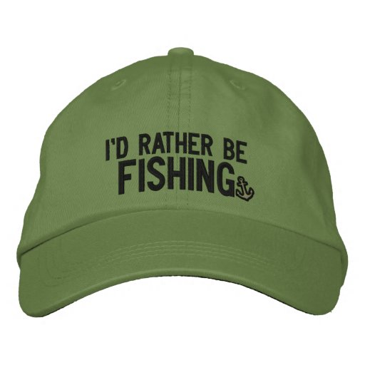 4946d278cc4 I d rather be fishing embroidered baseball hat
